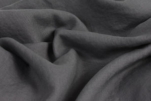 Dark Grey Linen Bed Sheet UK