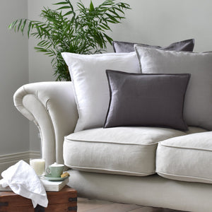 Small Dark Grey Linen Cushion