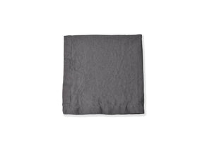 Charcoal Secret Grey Linen Napkin Flat Lay