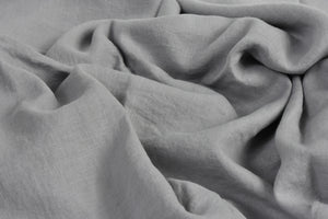 Grey Linen Sheet on a Bed in the UK