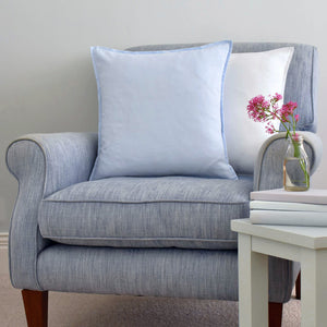Blue Linen Cushion on a Blue Linen Chair