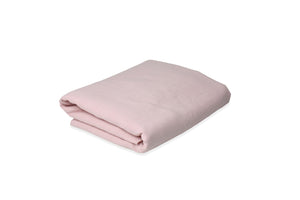 Folded Chalk Pink Linen Sheet UK