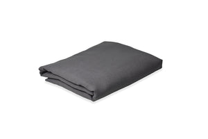 Folded Dark Grey Linen Sheet UK