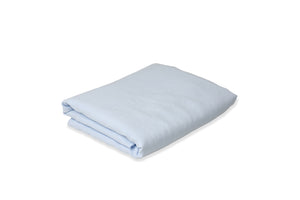 Folded Light Blue Linen Sheet UK