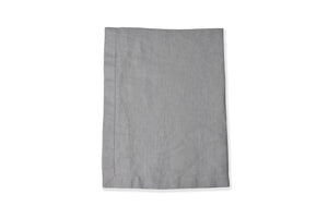 Cut out of Folded Linen Tablecloth in light grey UK