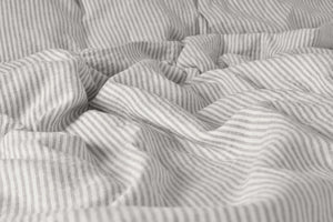 Natural Linen Striped Duver Set