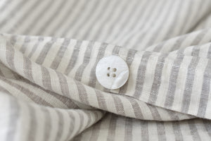 Natural Ticking Linen Bedding Bundle