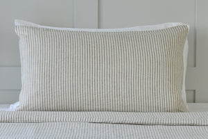 Natural Linen Ticking Pillowcase