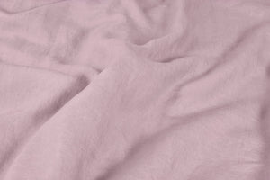 Rose Pink Linen Duvet Cover Close up of Fabric
