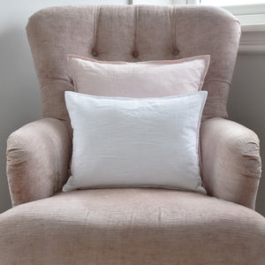 White Pure Linen Cushion