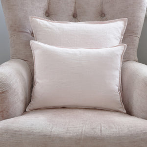 Blush Pink Stonewashed Linen Cushion
