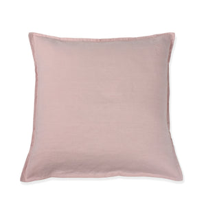 Chalk Pink Linen Cushion Cover cut out