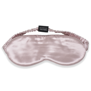 Pink Silk Sleep Mask with Silk Headband