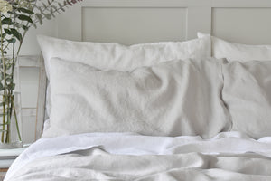 Sea Mist Grey Linen Housewife Pillowcase