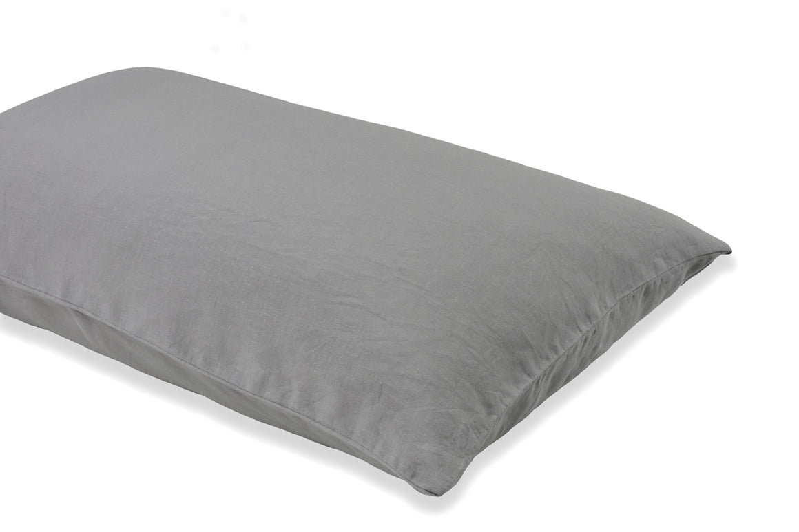 Light Grey Pure Linen Pillowcase