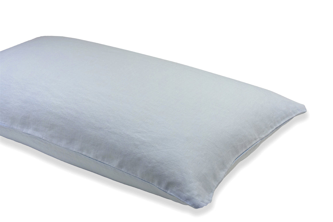 Light Blue Linen Pillowcase