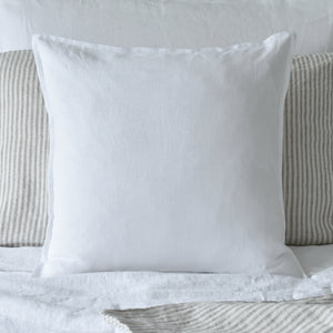 White Linen Cushion UK