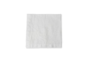 Still White Linen Napkin Flat Lay