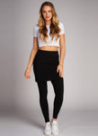 Bamboo Full Length Legging with Skirt