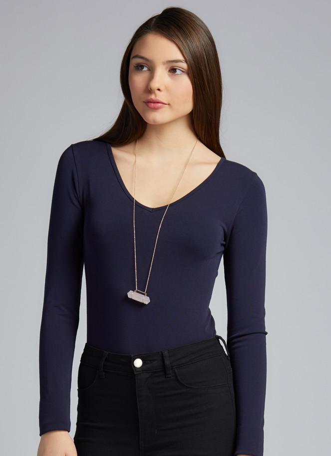 Bamboo Long Sleeve V-Neck