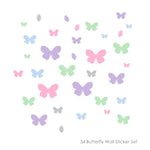 34 Butterfly Wall Sticker Pack