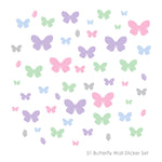 51 Butterfly Wall Sticker Pack