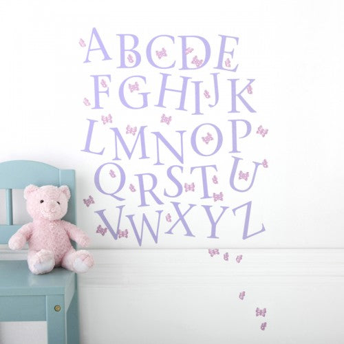 Alphabet Wall Stickers Upper Case Butterfly