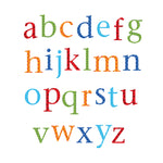 Alphabet Wall Stickers Lower Case Harlequin Bright