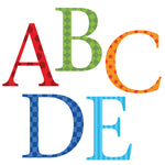 Alphabet Wall Stickers Upper Case Bright