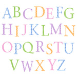 Alphabet Wall Stickers Upper Case Pastel