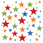 Star Wall Stickers Bright Harlequin Patterned