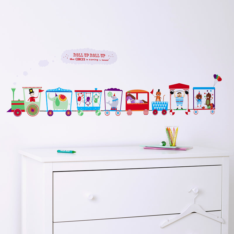 Circus Train Wall Sticker