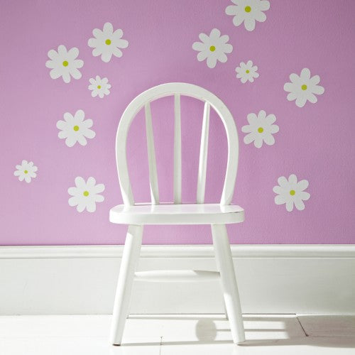 Flower Wall Stickers White