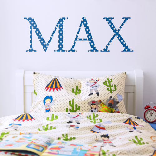 Giant Wall Letter Stickers Blue Star