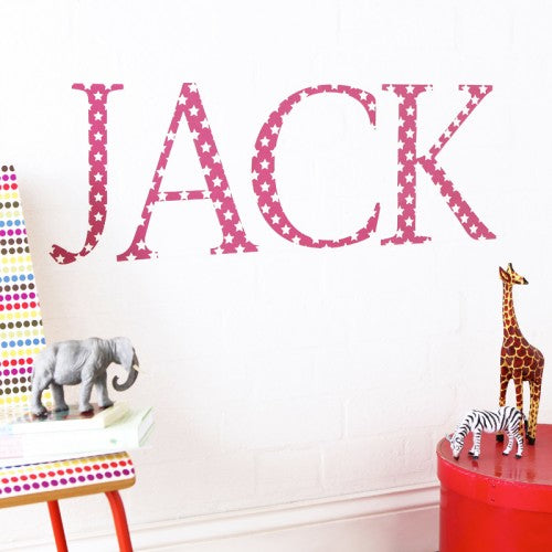 Giant Wall Letter Stickers Red Star