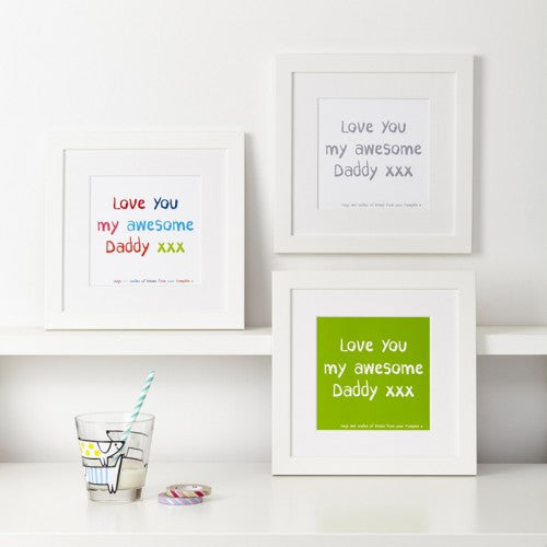 Personalised My Special Message To Dad Print