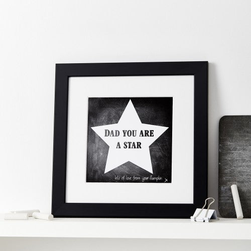 Personalised You Are A Star Chalkboard