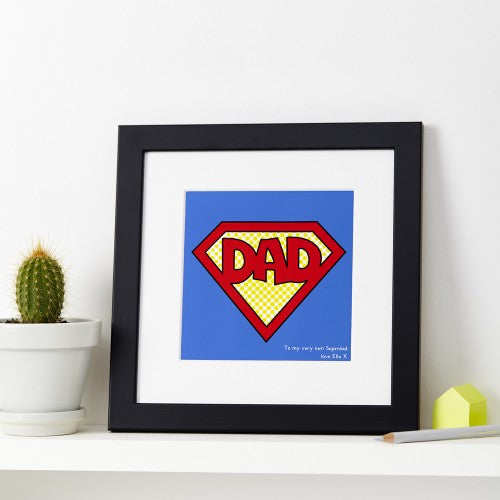 Personalised Superman Dad Print