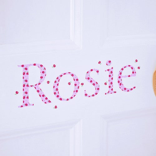 Personalised Wall Letter Stickers Rose
