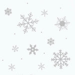 Silver Grey Snowflake & Snow Dot Wall and Window Stickers