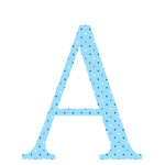 Personalised Wall Letter Stickers Blue Dot