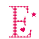 Personalised Wall Letter Stickers Red Gingham