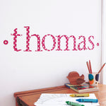 Personalised Wall Letter Stickers Red Star