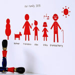 Personalised Family Wall Sticker Portrait