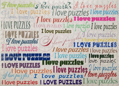 I Love Puzzles Jigsaw Puzzle