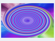 Load image into Gallery viewer, Dark Rainbow Twirl Jigsaw Puzzle