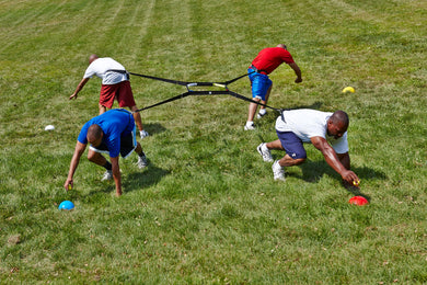 4 WAY TUG OF WAR! It Will Grind you UP! Great for all sports. Gladiator Competition