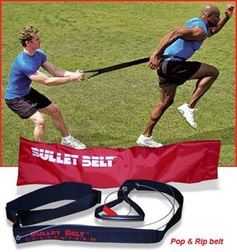 Bullet Belt for Resistance and Running Training - Overload and Overspeed Exercise