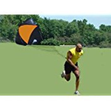 SOCCER SPEED RUN PARACHUTE-LARGE-RUN FASTER, BUILDER POWER & FUN! Color: Royal Blue