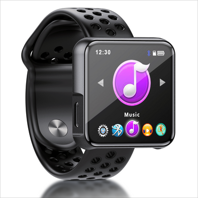 Portable MP3 Player with Bluetooth, MP3 Music Player FM Radio, Smart Watch Sport Women Men Touchscreen